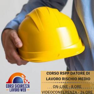 Corso RSSP Datore Lavoro Rischio Medio