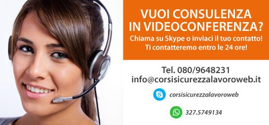 Corsi Sicurezza Lavoro web - consulenza in videoconferenza