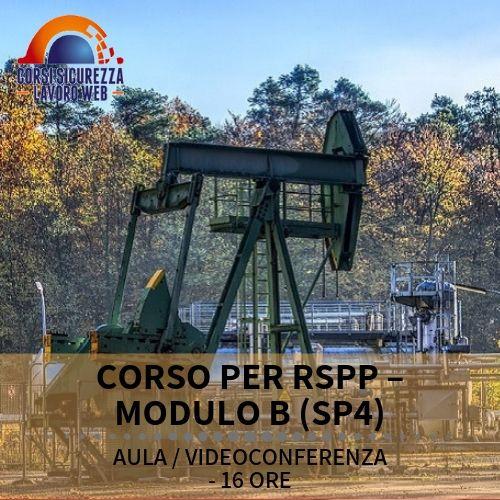 CORSO RSPP MODULO B SP4 - descrizione del corso