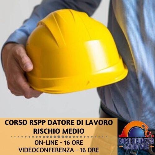 Corso RSPP Datore di lavoro rischio medio 16 ore - descrizione