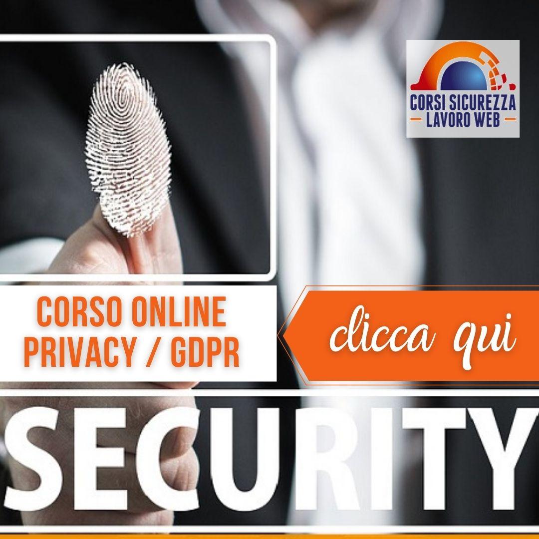 Corso di Formazione alla Privacy
