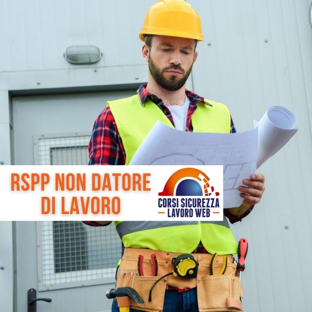 Responsabile sicurezza e protezione non datore di lavoro